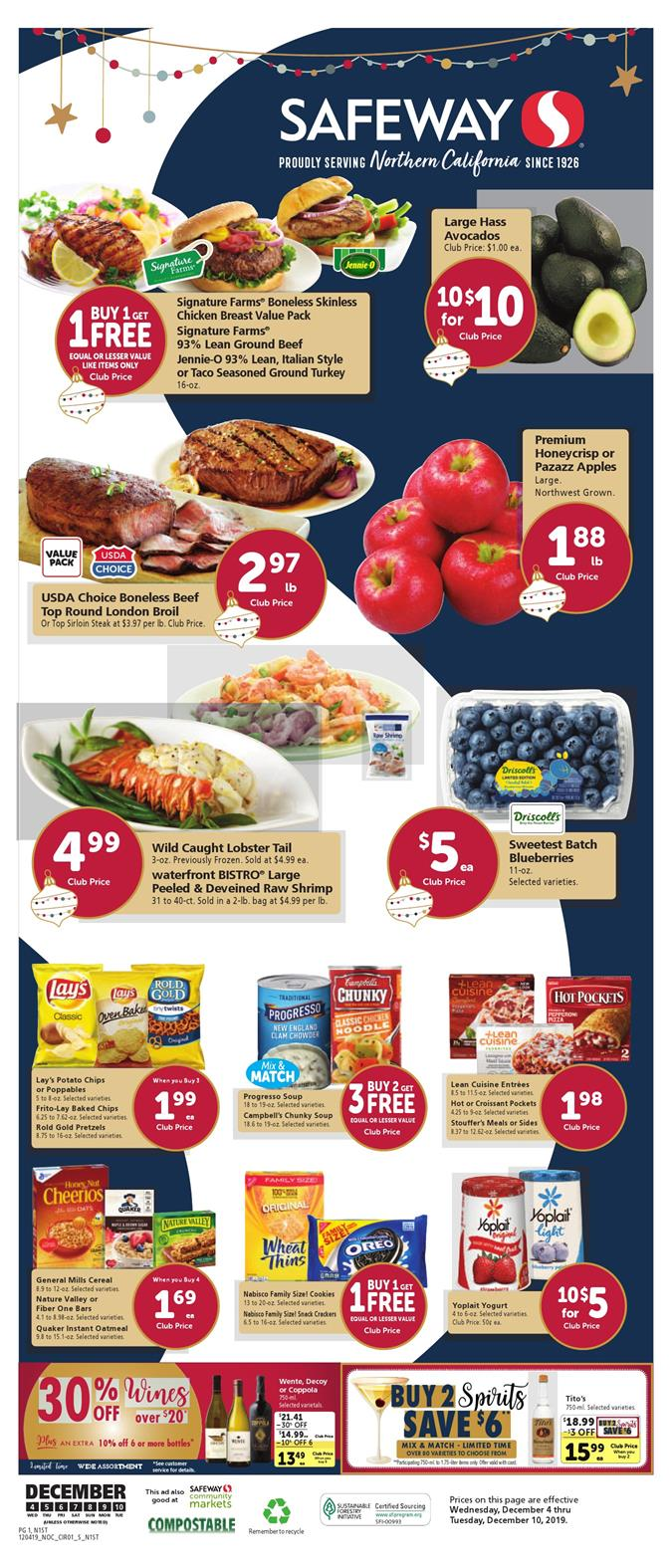 safeway weekly ad dec 4 2019