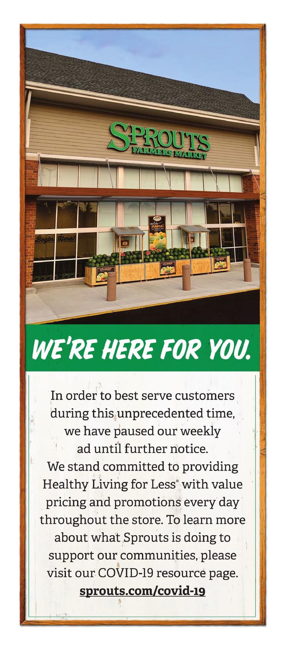 sprouts ad customer notice march 2020