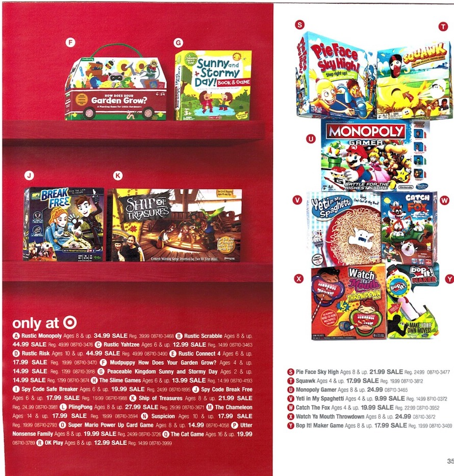 Target Toy Ad : Target ad annual toy book