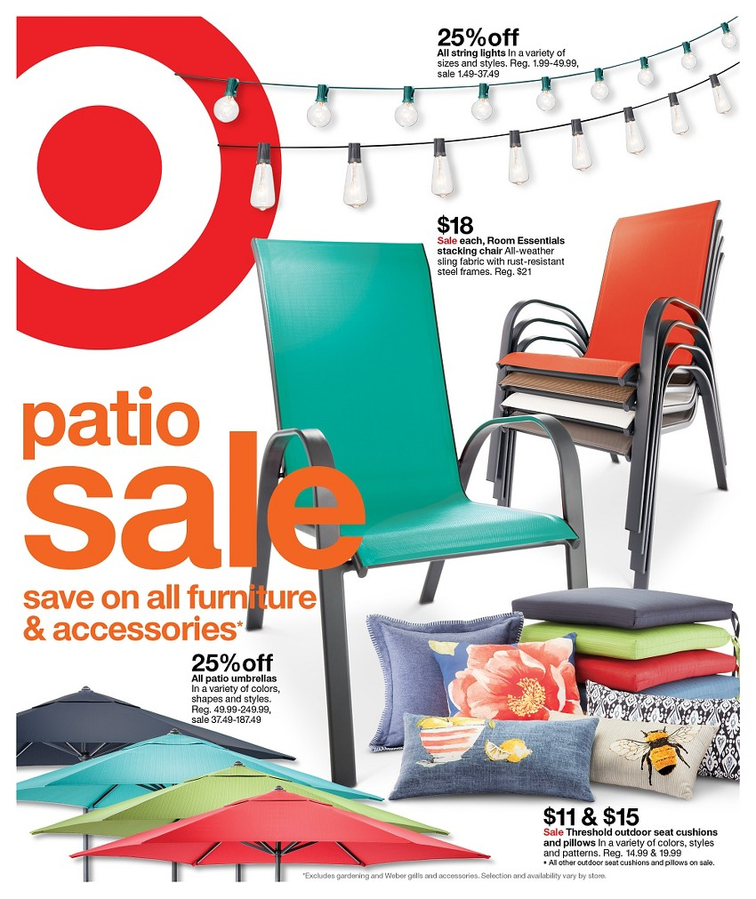 Target Ad Outdoor Sale May 2016 Grocery Gaming And More