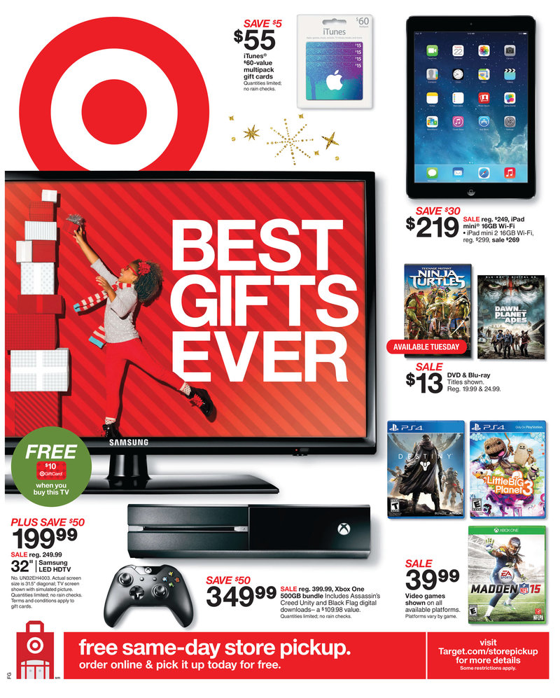 Target Christmas Weekly Ads Electronic Gifts