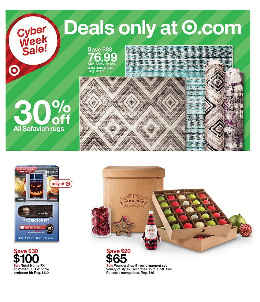 The return of the 15% off Cyber Monday discount. Plus, save big all week during the Target Cyber Week sale. As shoppers gear up for Black Friday at Target, the retailer wants to remind us about the upcoming Cyber Week savings. Starting on Sunday, Nov. 25, depotting.ml will offer daily deals and a full week of savings.
