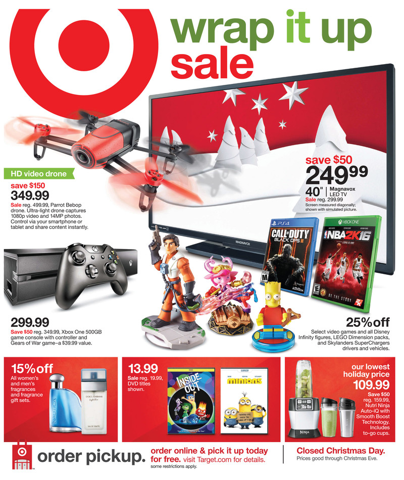 target weekly ad christmas dec 20 2015 - Christmas Deals 2015