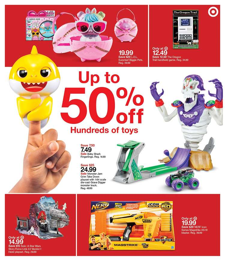 Target 50% off Toy Sale