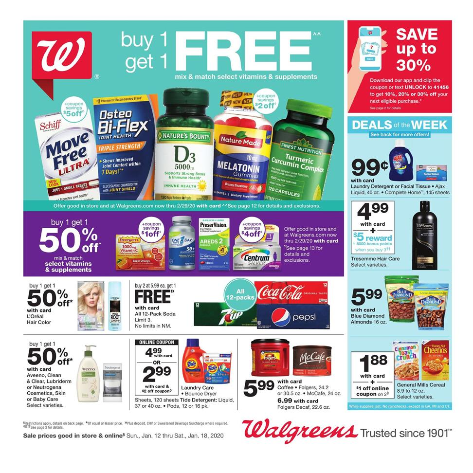 walgreens weekly ad jan 12 2020