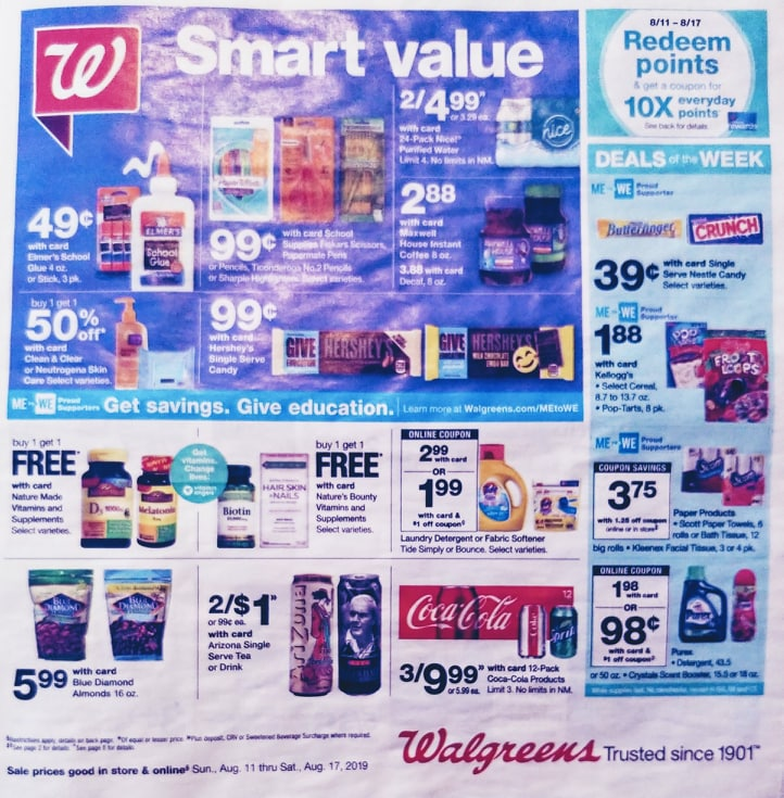 walgreens weekly ad preview aug 11 2019