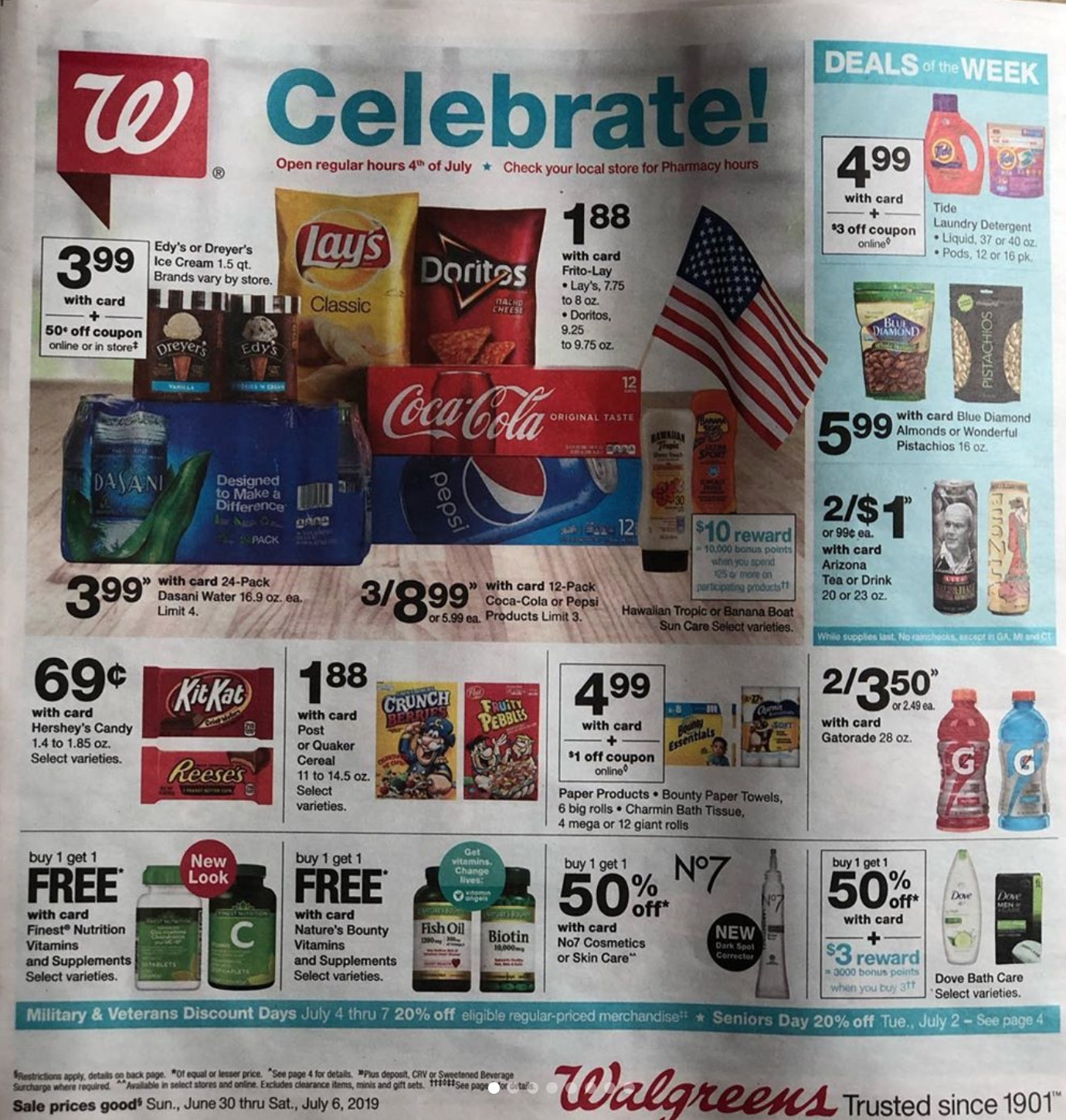 Walgreens Weekly Ad Preview Jun 30 - Jul 6, 2019