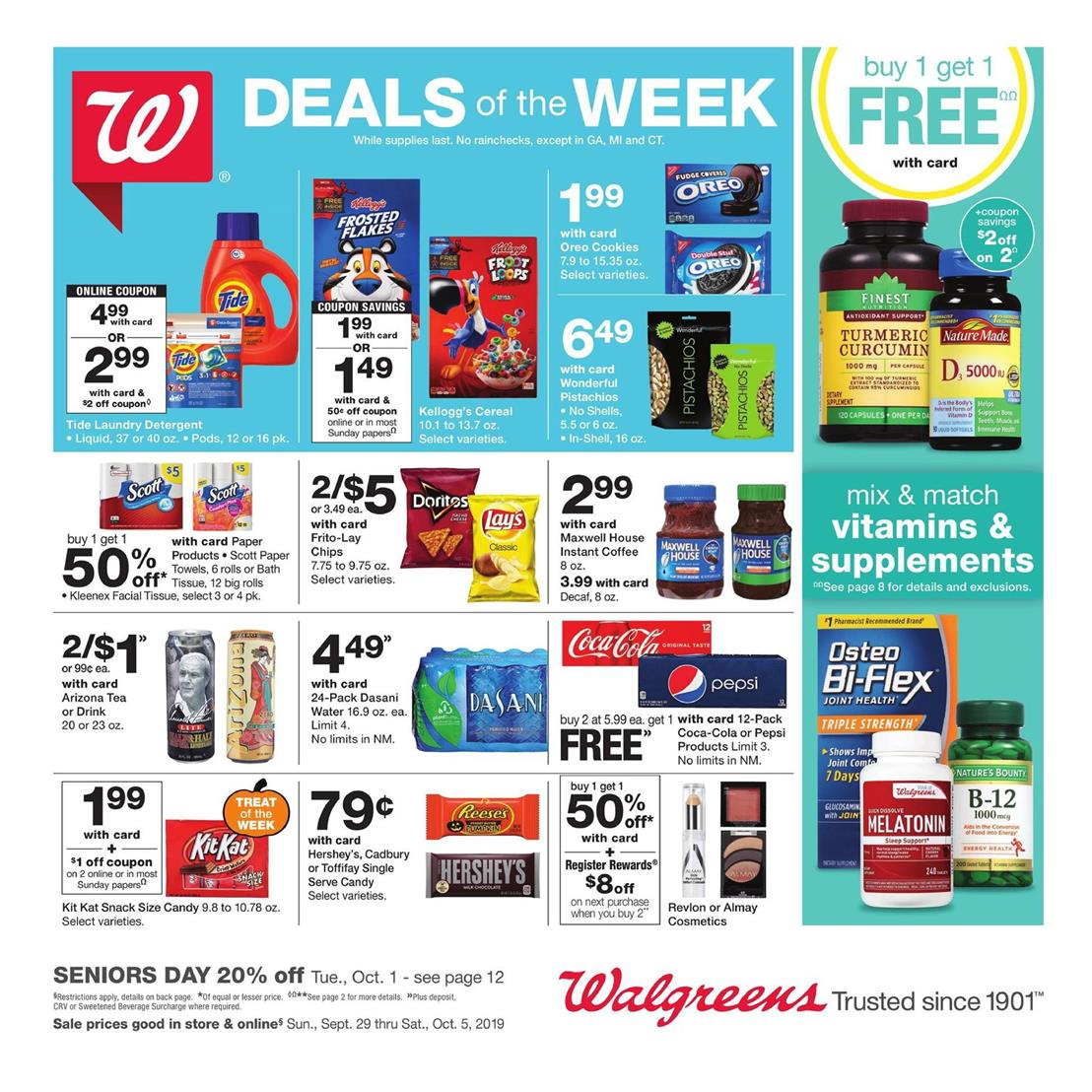 Walgreens coupon codes for October 28, 12222