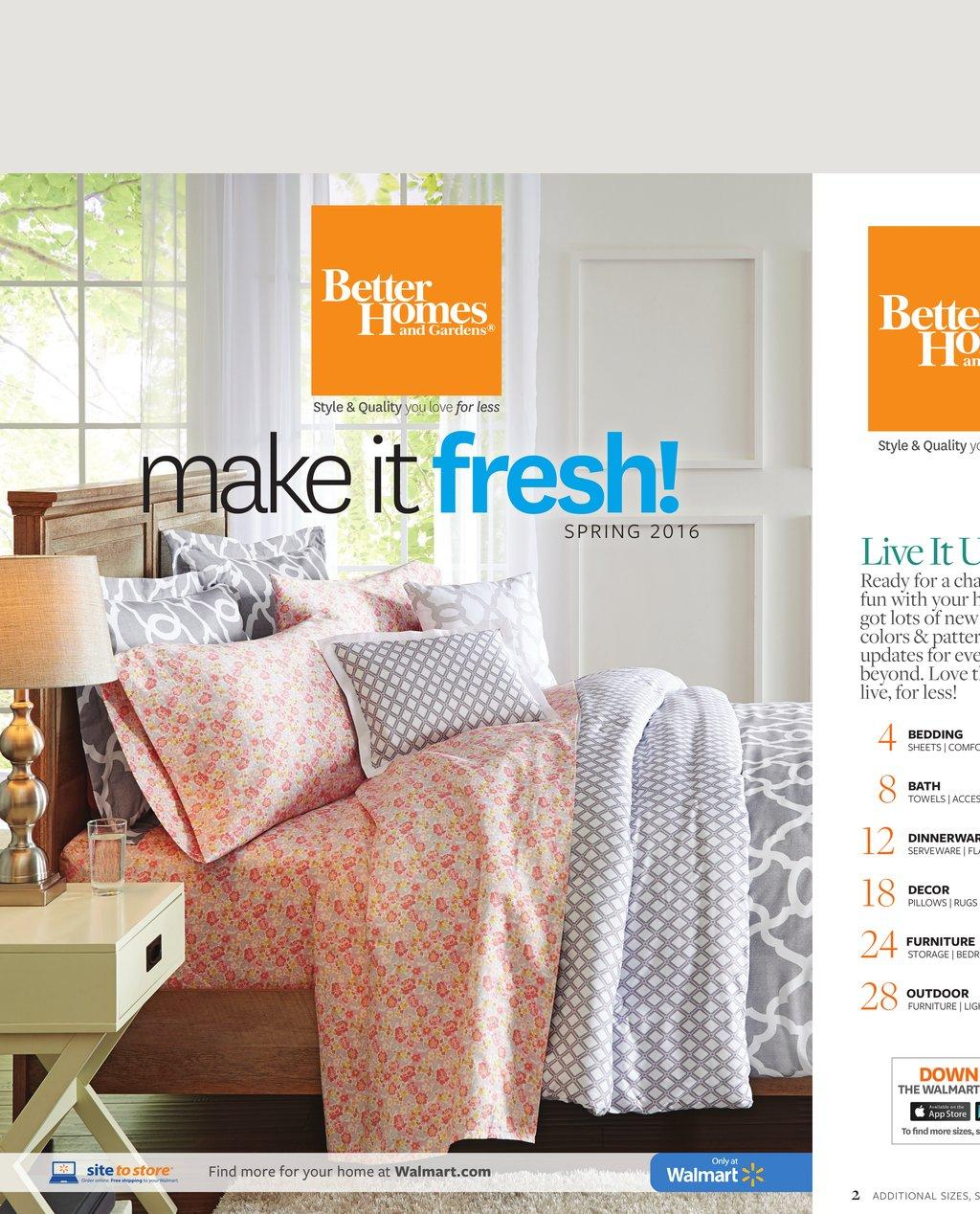 walmart ad bedroom may 2016 better homes products