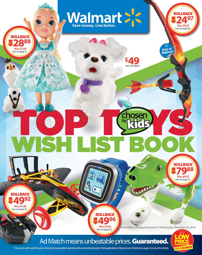 Walmart Toy Catalog Christmas Deals