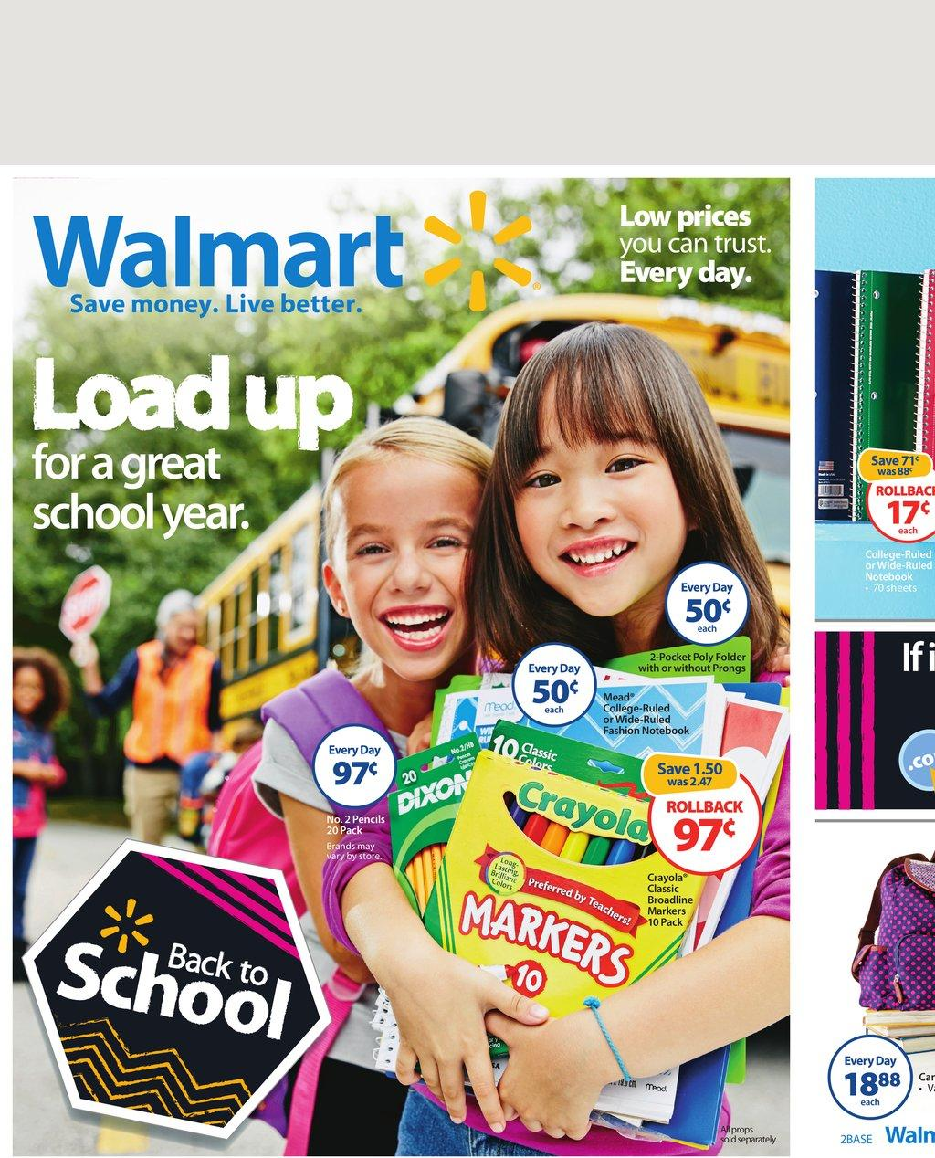 283a668fd Walmart Weekly Ad Preview 7/31 - 8/15 school Supplies