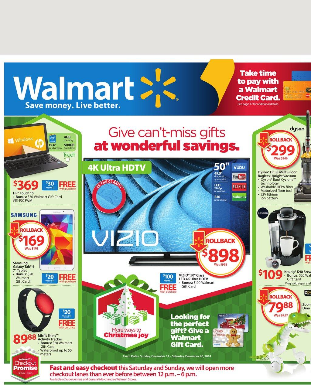 walmart weekly ads christmas gifts 2014