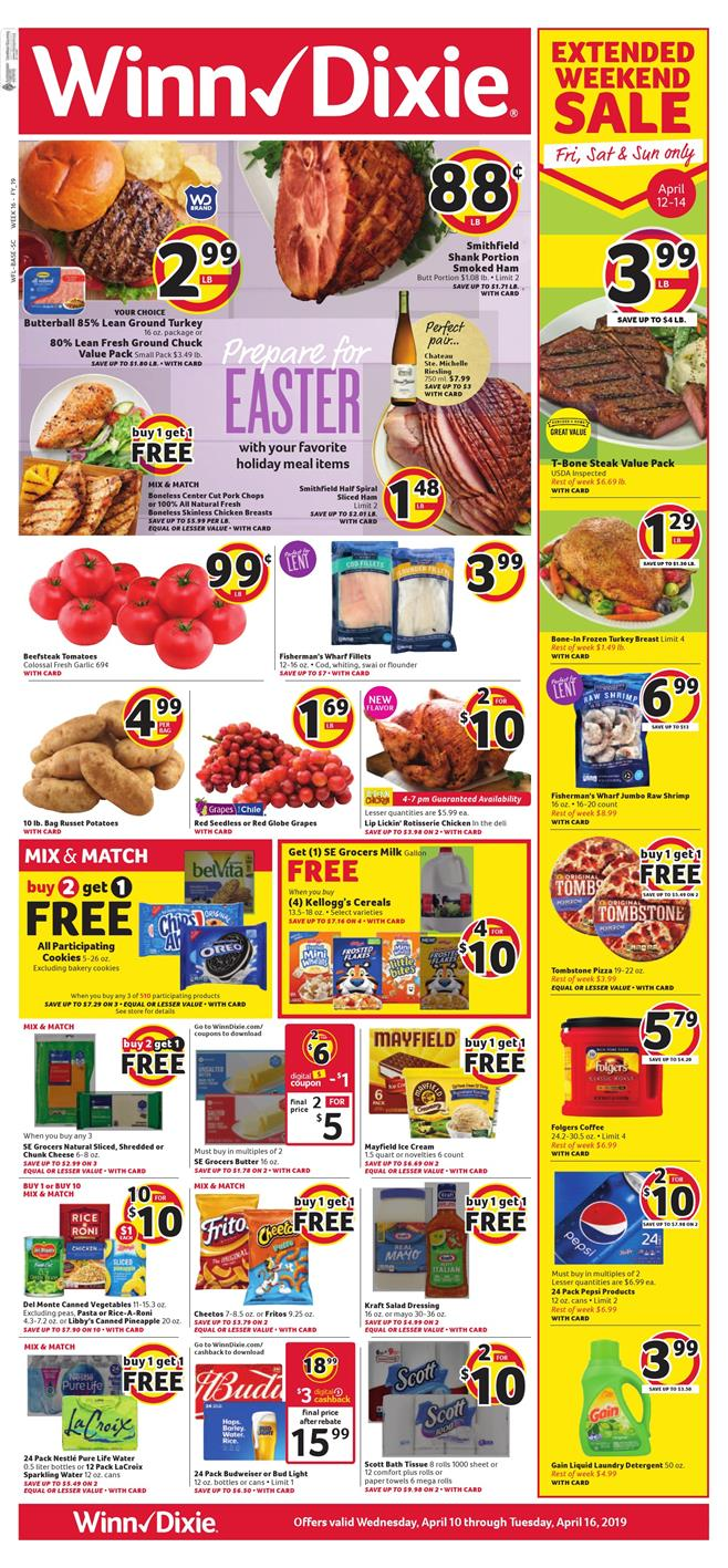 winn dixie weekly ad apr 10 2019