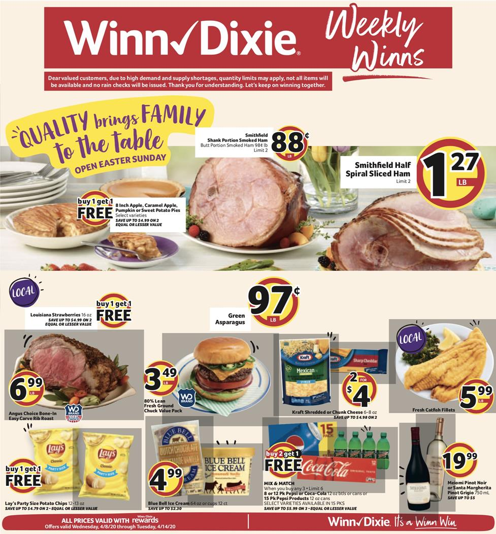 winn dixie weekly ad apr 8 2020