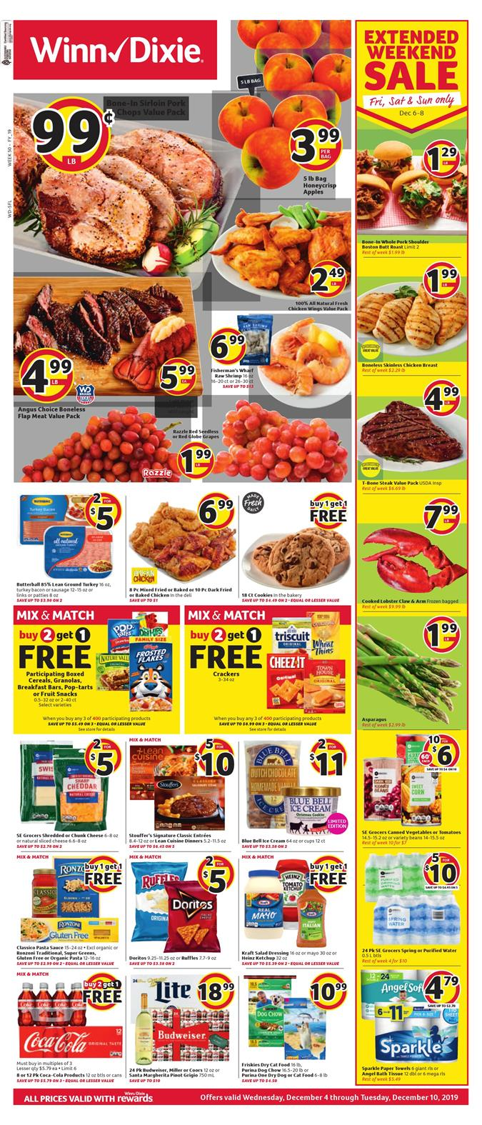 winn dixie weekly ad dec 4 2019