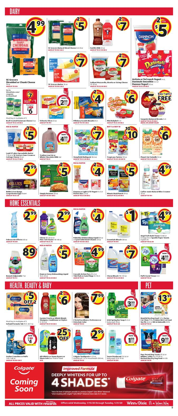 winn dixie weekly ad jan 15 2020