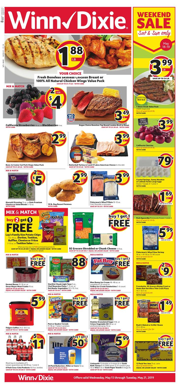 winn dixie weekly ad may 15 2019