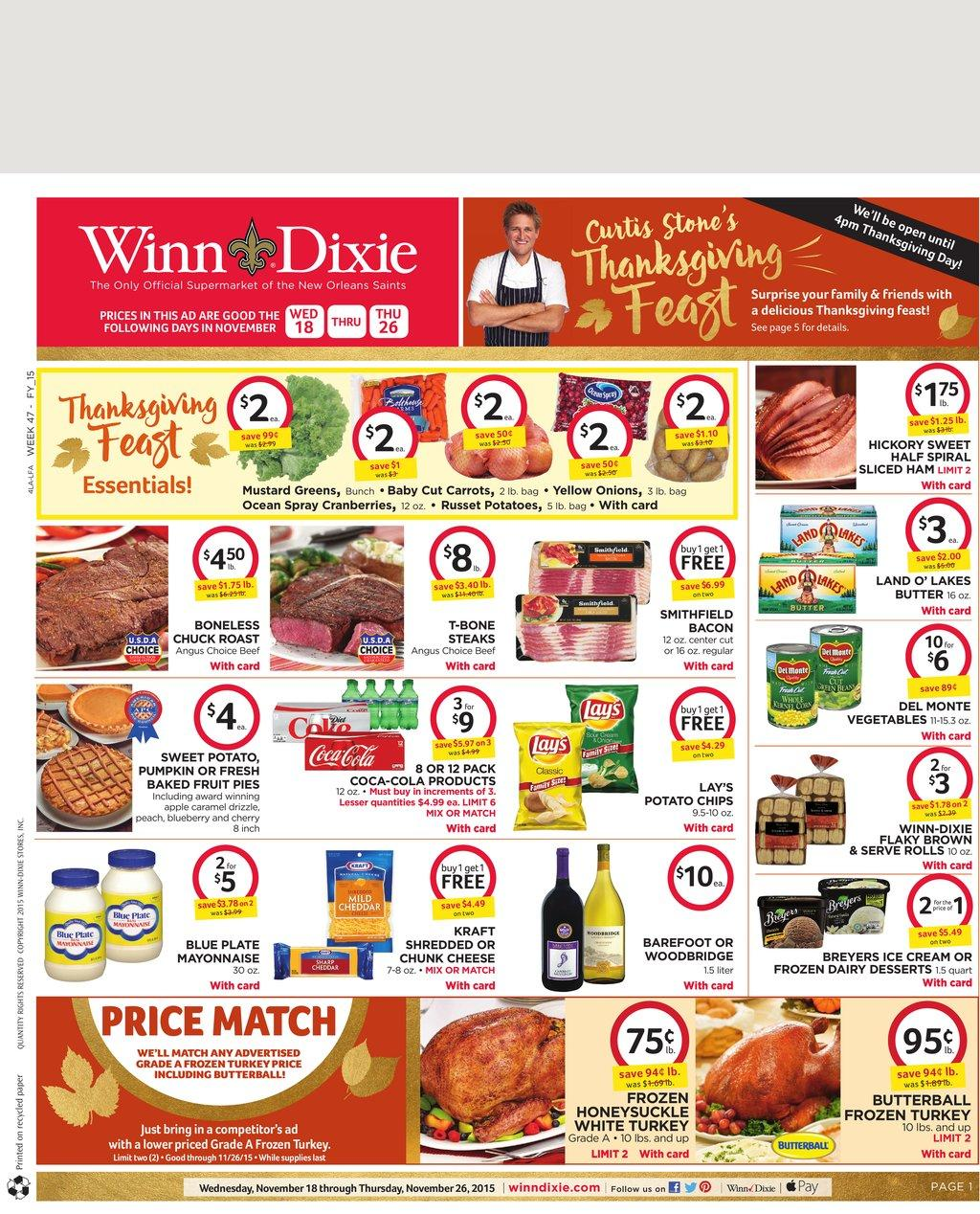 Winn Dixie Weekly Ad Nov 18 2015