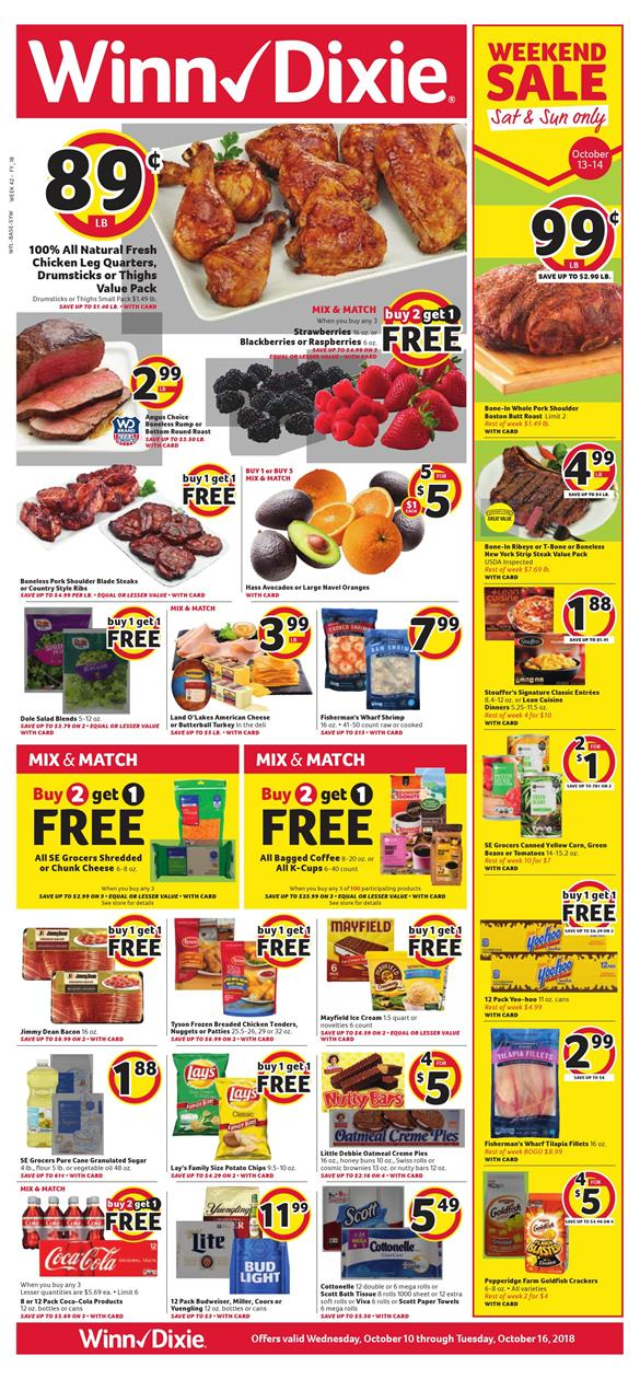 winn dixie weekly ad oct 10