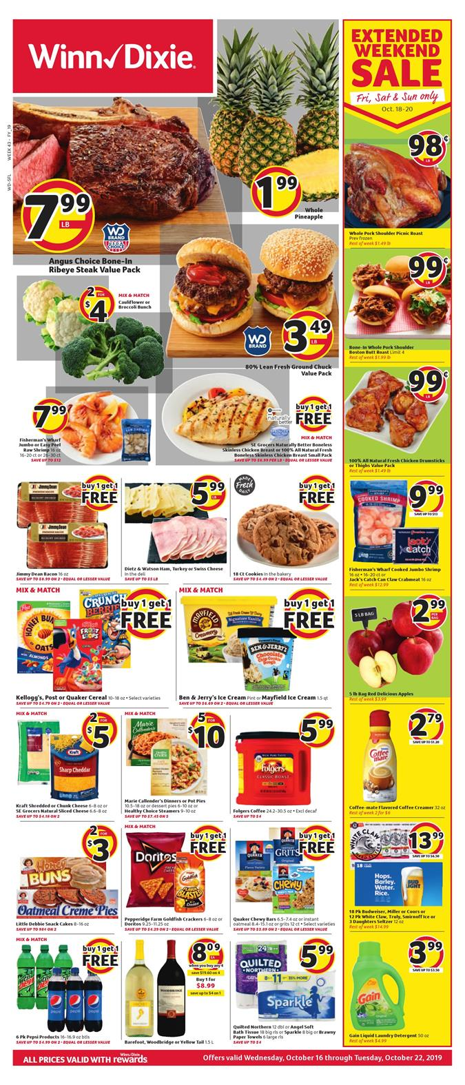 winn dixie weekly ad oct 16 2019