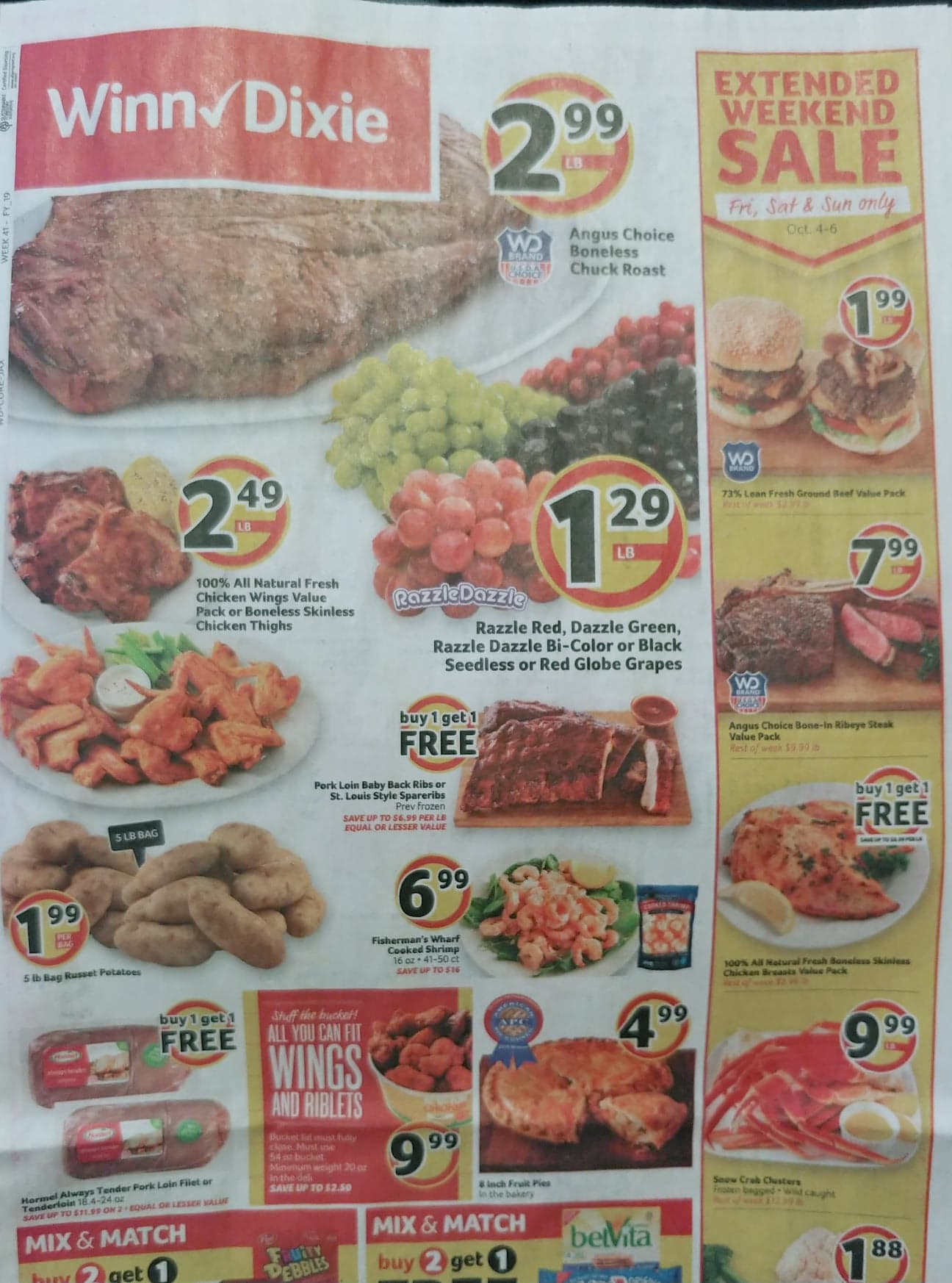 winn dixie weekly ad preview oct 2 2019